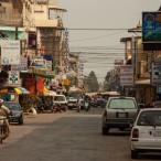 _ulice Battambanga, drugega največjega mesta v Kambodži_